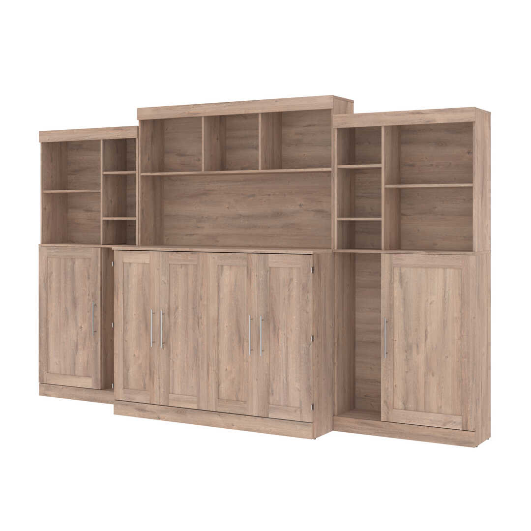 Full Cabinet Bed with Mattress and Upper Storage (133W)