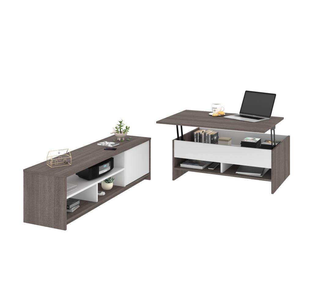 2-Piece set including a lift-top coffee table and a TV stand