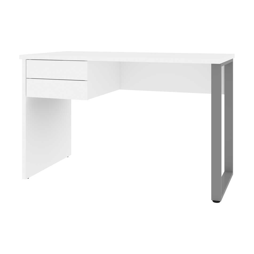 48W Small Table Desk with U-Shaped Metal Leg