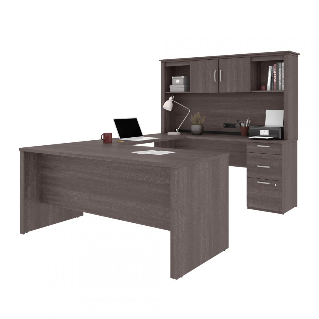 U or L-Shaped Desk with Hutch