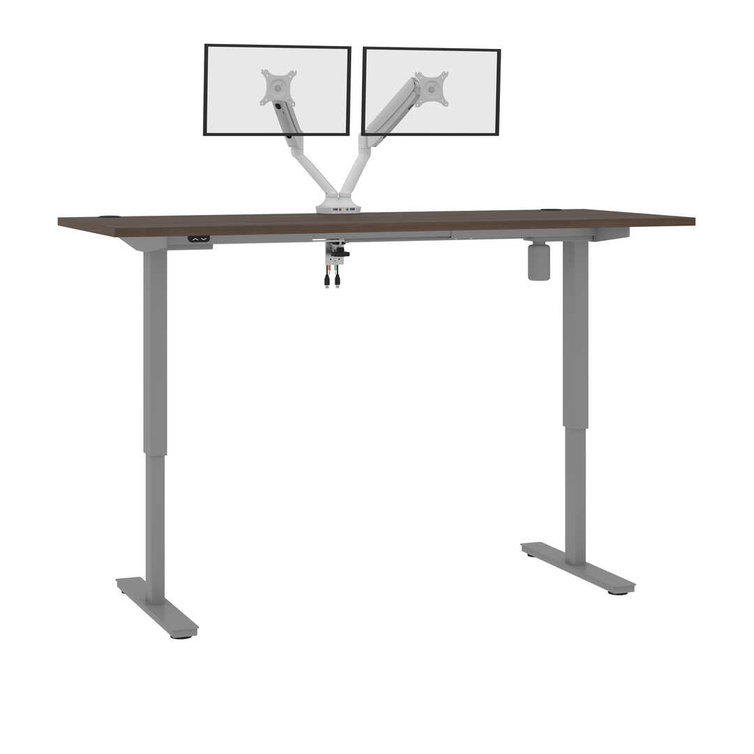 72W x 30D Standing Desk with Dual Monitor Arm
