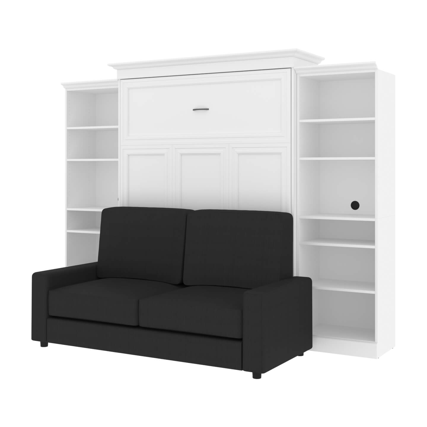 """Queen Murphy Bed, Two Storage Units and a Sofa (115"""")"""