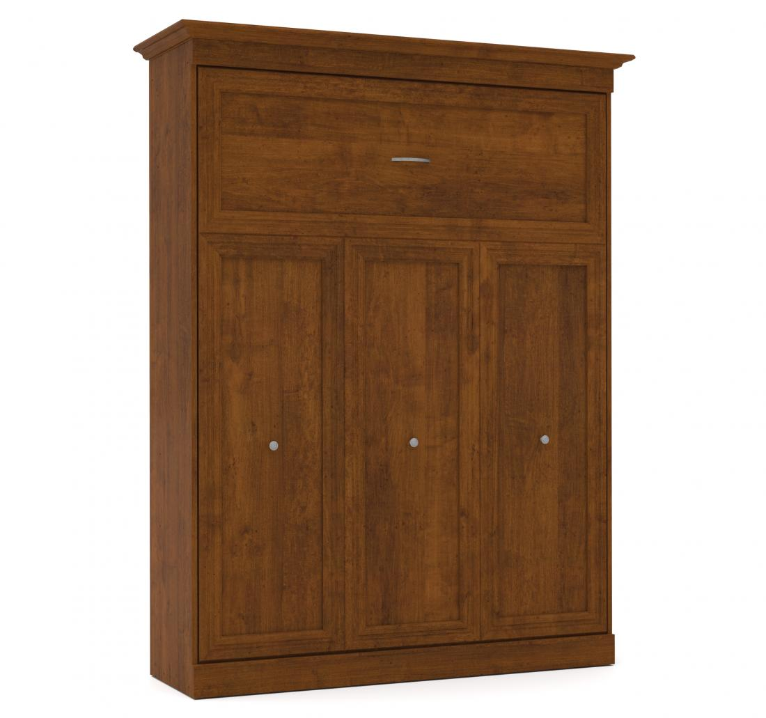 """Queen Murphy Bed and 1 Storage Unit with Drawers (101"""")"""