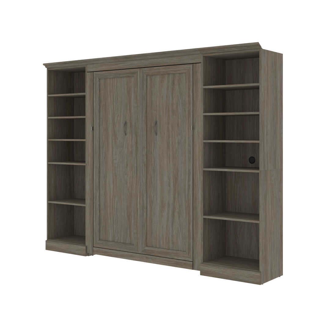 Full Murphy Bed with Shelving Units (109W)